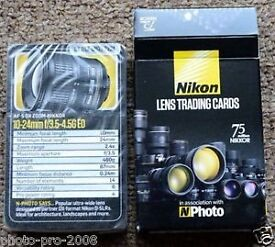 NIKON LENS TRADING CARDS, BRAND NEW, UNUSED , COLLECTORS ITEM !!