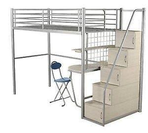 metal bunk bed with desk. metal bunk beds with desks bed desk
