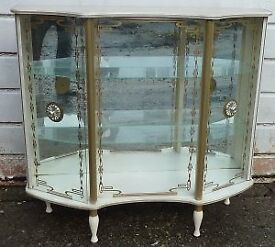 Vintage 1950's- 1960's Glass display Cocktail/Drinks cabinet Retro Shabby Chic