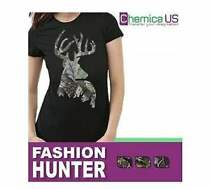 "CHEMICA FASHION HUNTER OAK HEAT TRANSFER VINYL 12"" X 15"" CRAFT"