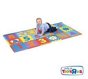 (2) - 18 Piece Numbers Foam Playmat (36 numbers total)