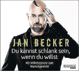 Becker Jan Du kannst schlank sein wenn du willst CD HörBuch NEU Selbsthypnose
