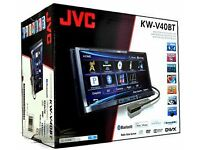 "JVC KW-V40BT - 7.0"" Double DIN CD/DVD/USB/iPOD with Bluetooth AUDI VW SEAT HONDA CD Player Stereo"