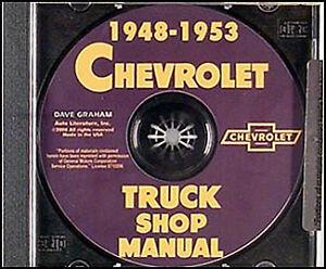 Chevy-Pickup-and-Truck-Shop-Manual-CD-1948-1949-1950-1951-1952-1953-Repair