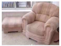FREE Beautiful comfortable armchair & footstool
