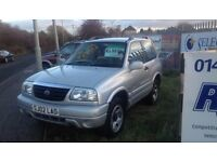 2002 SUZUKI GRAND VITARA not rodius jeep land rover zafira touran voyager 7 seater ml