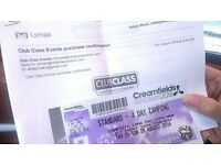 Creamfields Thursday-Mon camping Ticket + Blub Pass for showers etc MAKE AN OFFER