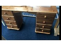 Dressing Table Pine 4+4 Drawer Dressing Table With Single Mirror BRAND NEW