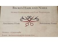 Mobile hairdresser and nail technician. Dereham / Noriwch and surrounding areas.