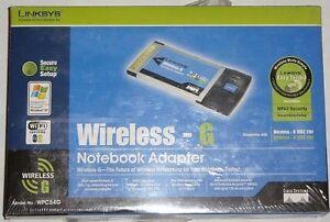 LINKSYS-WPC54G-WIRELESS-G-PCMCIA-WIRELESS-NETWORK-ADAPTER-802-11B-G-LAPTOP-CARD