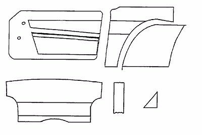 New Interior Panel Kit W Door Panels for Triumph TR6 1970-1973 Made UK Black