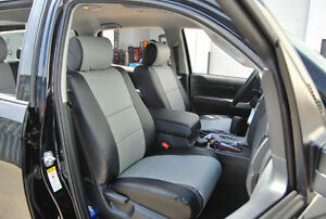 TOYOTA TUNDRA 2007-2013 IGGEE S.LEATHER CUSTOM FIT SEAT COVER 13COLORS AVAILABLE