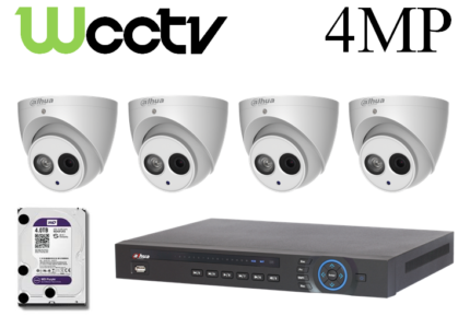 4 Megapixel (4MP) CCTV Security Camera System SUPPLY and INSTALL