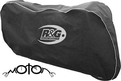 R&G Racing Motorcycle/Bike Elasticated Protective Dust Cover - Black / Silver