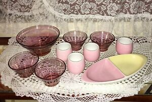 Gorgeous Pink Serving bowls / dinnerware items Canning Vale Canning Area Preview