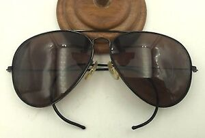 RAY BAN BLACK  WRAP AROUND AVIATOR SUNGLASSES