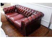 Chesterfield Sofa 3 seater Red / Oxblood