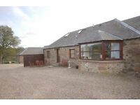 Kinwhirrie Cottage for sale situated in beautiful and peaceful rural area near Kirriemuir, Angus