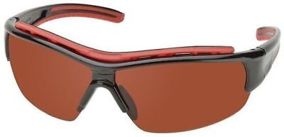 Elvex Rsg300 Series Safety Glasses Blackred Frame Blue Block Copper Lens
