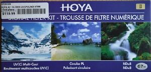 Filtre 67mm Trousse 3 filtres Hoya
