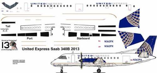 United Express Saab 340 Pointerdog7 decals for Welsh 1/144 kits