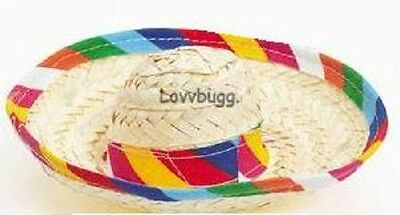 "Lovvbugg Sombrero Hat Mexican for 18"" American Girl Doll Clothes Accessory"