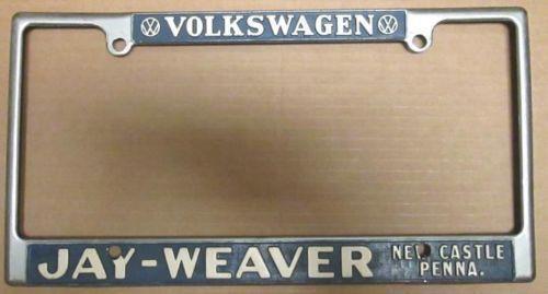 Vintage Vw License Plate Frame Ebay
