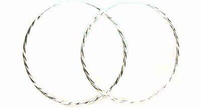 Hi-Quality USA Sterling 50mm Twist Hoops Ancient Trojan Mycenea Treasures 1700BC
