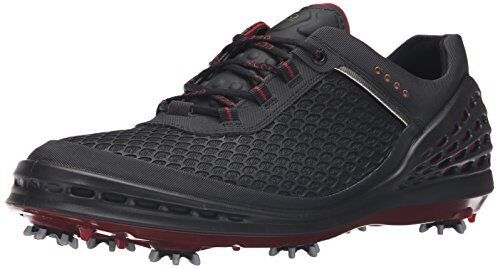 ECCO Men's Cage Sport Golf Shoe, Black/Red, 42 EU/8-8.5 M US Cage Sport-M
