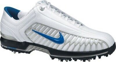 Nike Air Zoom Elite 2 Mens Golf Shoes Cleats White Blue Leather 10.5 Tiger Woods Air Zoom Elite Golf Shoe