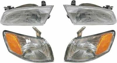 1997 1998 1999 TOYOTA CAMRY HEAD & CORNER LAMP LIGHT LEFT & RIGHT COMBO 4PCS SET