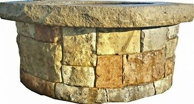 Concrete Fire Pit Seat Wall Form Liner - Majestic Stack Stone 14x5 Walttools