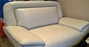 Leather-Look Studio-Size Sofa & Chair-and-a-Half