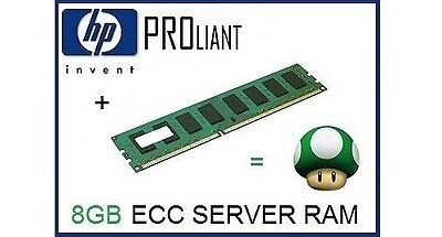 EQ HP 8GB PC3-12800E DDR3-1600 ECC Unbuffered UDimm Server Memory Ram 669324-B21