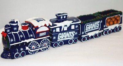 New York Giants Train Set Table Top Village Christmas Decor - Ny Giants Decor