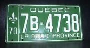 Quebec License Plate
