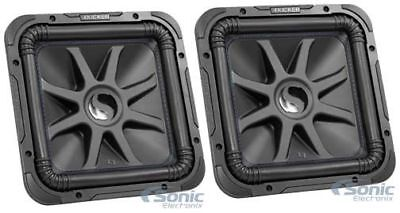 "(2) Kicker Solo-Baric L7S122 (44L7S122) 12"" 3000W Car Audio Subwoofers Package"