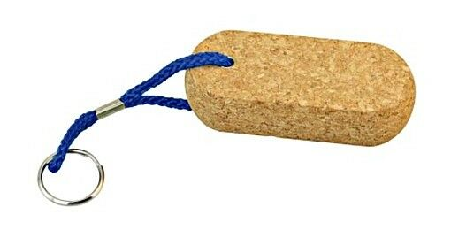 Floatable Key Ring Tag with Cork Oval
