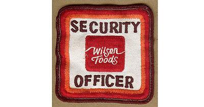 Vintage WILSON Meats, Foods, CEDAR RAPIDS,Iowa Ia Security Officer, Guard PATCH
