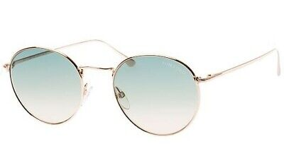 Authentic Tom Ford RYAN-02 FT 0649 Shiny Rose Gold/Green Blue Shaded Sunglasses (Ryan Sunglasses)