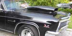 1966 impala steel hood and drag scoop trade for cowl induction h