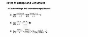 ILC ANSWERS FOR MCV4U-B (CALCULUS AND VECTORS) W/ FEEDBACK