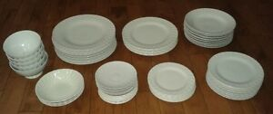 Lot of Dishes Plates Bowls Tea Pot