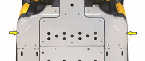 new can-am maverick front skid plates