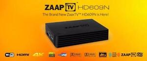 2016 ZaapTV X & Zaptv HD609 Android Media Player 700+ Arabic Live TV + Time Shift Channels 1080P IPTV. No Monthly Fees.