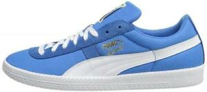 Puma-Brasil-canvas-textile-rubber-light-blue-retro-football-trainers-Size-7-5