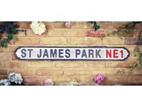 Brand New Extra Large 15cm x 120cm St.James Park (Newcastle) Road Sign