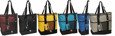 EVEREST Deluxe Shopping Tote Beach Travel Bag Insulated Compartment 1002DLX Deluxe Beach Tote Bag