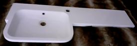 Vanity basin left hand