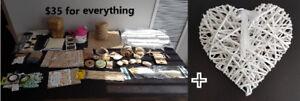 Assorted burlap craft supplies